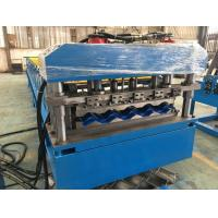China 5 - 8 m / min Fast Speed Color Steel Roof Tile Forming Machine One Complete Chain Drive on sale