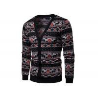Best Cotton Acrylic Allover Print Ugly Christmas Sweater V Neck Button Cardigan Christmas Jumpers wholesale
