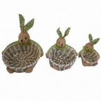 Best 3pcs Handmade Holiday/Christmas/Easter Gift Basket Set, Customized Designs are Accepted wholesale