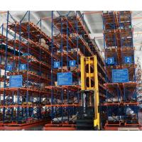 China Adjustable Heavy Loading Capacity Pallet Racking System 5 Layers Blue Upright Frame on sale