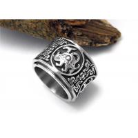 China Cool Stainless Steel Rings Flesh Heavy Jewelry Unique Retro Mens Dragon Rings on sale