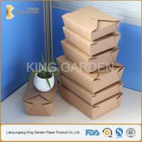 Quality kraft takeaway food box for sale
