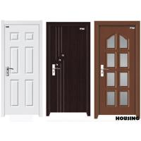 Cheap Customized Wood PVC Doors , Fire Wood / MDF / Solid Wood / PVC Film for sale