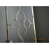China Figured Glass Panels For Kitchen Cabinets , Beveled / Flat Edge Glass For Cabinets on sale