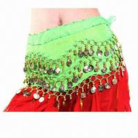 China Belly Dance Hip Scarf, Customized Sizes and Designs are Accepted on sale