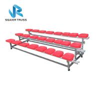 China 2 - 5 Rows Outdoor Aluminum Stadium Bleachers Metal Structure Bench Grandstand on sale