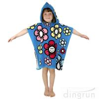 Best Durable Cartoon Hooded Poncho Towels / Soft Touch Personalised Poncho Towel Dryfast wholesale