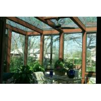 Best 3D wood grain single, double glass sun rooms with 3D wood grain surface treatment wholesale