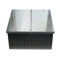Best Square Insert Fin Air Cooling Aluminum Heat Sink Extrusion wholesale