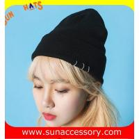 Best AK17016 Sun customized acrylic fashion promotion advertising beanie cap, logo can be sewing on the cap wholesale