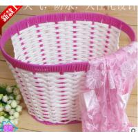 China Woven Rattan Laundry baskets on sale