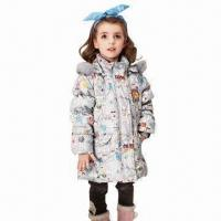Best Children's winter coat with detachable hood and fur wholesale