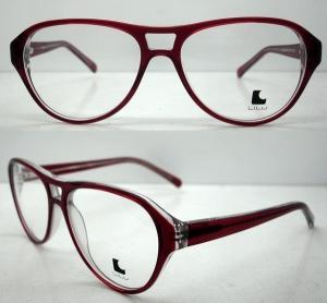 Best Cool Ladies Retro Large Eyeglasses Frames , Acetate Eyewear Frame wholesale
