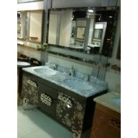 China Two Cup Stainless Steel Bathroom with Marble Top GBS037 on sale