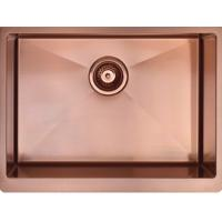 China PVD Rose Gold 304 Stainless Steel  Apron Single Stainless Steel Sinks on sale