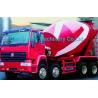 China Red 8cbm 10cbm Mixer Trucks / 8x4 Concrete Mixer Trucks 336 Horsepower wholesale