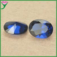 Best 113# synthetic blue spinel wholesale gemstone egg shaped semi-precious stones wholesale