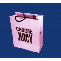 Best Black color shopping paper bag with logo wholesale