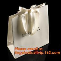 Best luxury paper shopping bag for jewellry, twist handle luxury print fancy brown kraft art paper carrier bag wholesale wholesale