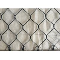 China Black Oxide Coated Stainless Steel Netting Mesh , Wire Cable Netting Anti Weather on sale