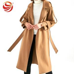 Best Camel Wool Women's Casual Winter Coats Long Style Fashionable LOW MOQ wholesale