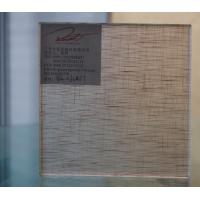 China Coffe Frosted Fabric Laminated Glass For Contemporary Furniture , Sliding Door on sale