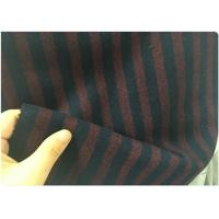 China 50W 50S Red And Black Striped Fabric , Micro Twill Fabric Lightweight 150CM on sale