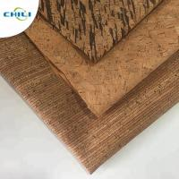 Best Wooden Pu Pvc Leather Fabric , Etsy Cork Fabric Abrasion Resistant Easy Cleaning wholesale