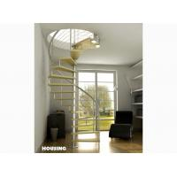 Best Stainless steel Custom Spiral Staircases with satin finished,laminated glass Tread wholesale