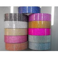 Cheap Wholesale waterproof decorative glitter tape and custom printed glitter stationery tape for sale