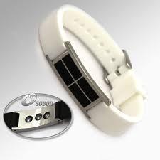 Best White Color Wrist Power Balance Sports Silicone Bracelet with Pure Titanium wholesale
