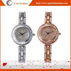YQ03 Hotsale Watches Woman Luxury Rose Gold Silver Watch Full Diamond Watch Bracelet Watch