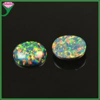 Best China factory wholesale standard /customed egg shape synthetic black opal cabochon wholesale