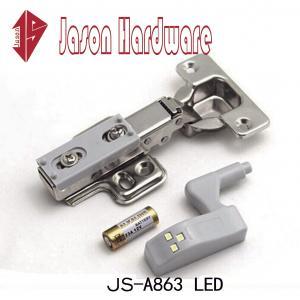 China led hinge,cabinet door hinge with led light,LED light soft closing hinge on sale