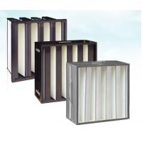 China Plastic(ABS) Frame Mini-pleat Filter Glassfiber Hepa V Bank Filters on sale