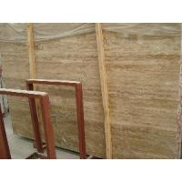 China Coffee Travertine Slab on sale