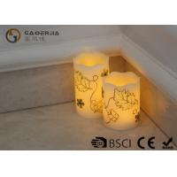 Best Luxury Carved Craft real Wax led Candles with flower pattern , painting candle wholesale
