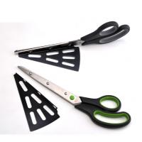 China FDA PP Small Kitchen Tools , Pizza Cutter Scissors With Detachable Spatula on sale