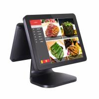China Dual Screen Pos Computer System 35W Power Consumption With Card Reader on sale