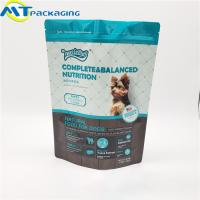 Best Stand Up Self Supporting Dog Food Pouches Zipper Lock Resealable Food Packaging wholesale
