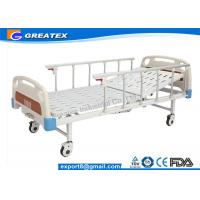 Best Aluminum Alloy Handrail Single Crank Manual Hospital Bed With Silent Wheels wholesale