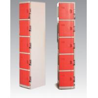 Best ABS Material Coin Operated Lockers 5 Tier Red / Orange For Swimming Pool wholesale