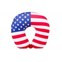 China Personalized US Flag Airplane Neck Pillow , U Shaped Neck Pillow For Travel on sale