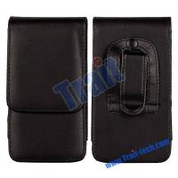 Best Black Magnetic Flip Leather Case Pouch for Samsung i9300,i9250, i9100/HTC G21/Sony Ericsson Xperia L wholesale