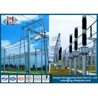 Buy cheap 500KV Galvanized Substation Switchyard Structures Tubular , Tapered from wholesalers