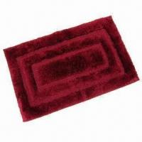 China Bath Mat/Carpet/Rug, Made of 100% Polyester Microfiber Mat with High Pile and Low Loop on sale