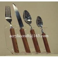 Best Kitchen acrylic knife display holder stand cheap PMMA forks & knifes rack wholesale