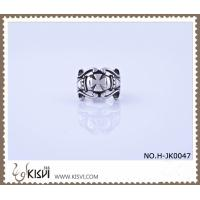 Best Hot Sell #6, #8, #10, 9.4g 316l Stainless Steel Cross Ring H-JK0047 wholesale