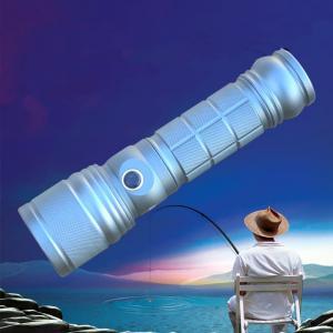 Rotating Zoom CREE BLUE UV Q5 & 1000 Lms T6 Double Lights LED Flashlight/Torch for Fishing
