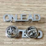 Best Monogram lettering silver emblem pins, metal monogram lapel pins, wholesale